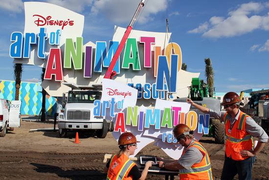 Walt Disney Imagineering Adds Finishing Touches to Disney's Art of Animation Resort's Marquee
