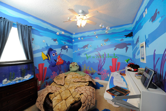 A 'Finding Nemo'-themed Room Designed on HGTV's 'My House Goes to Disney.'