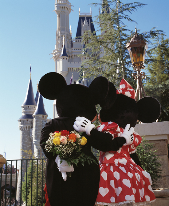 Mickey and Minnie Mouse Celebrate Valentine's Day at Disney Parks