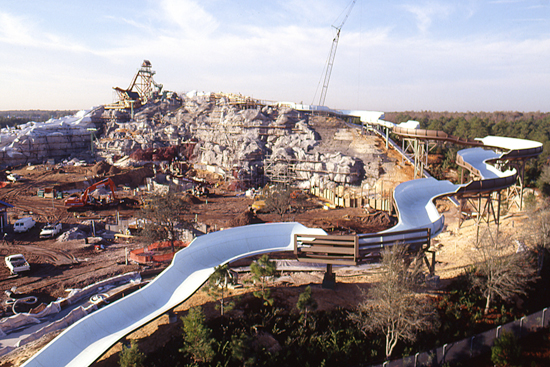  Summit Plummet Takes Shape at Disneys Blizzard Beach Water Park in 1994