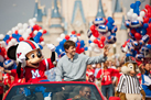Super Bowl MVP from the New York Giants Eli Manning with Mickey Mouse at Walt Disney World Resort