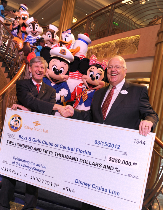 Disney Cruise Line Contributes $250,000 to the Boys &#038; Girls Clubs of Central Florida