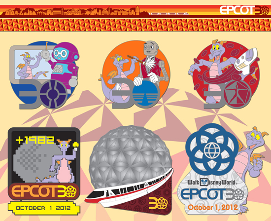 Epcot Celebrates its 30th Anniversary with New Pins