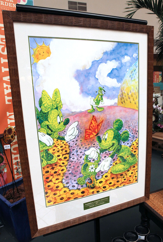 Topiary-Themed Signature Poster, Designed by Disney Design Group Artist Randy Noble