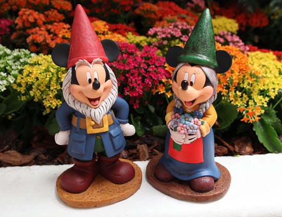 The Epcot International Flower & Garden Festival Features Mickey Mouse and Minnie Mouse Garden Gnomes Merchandise