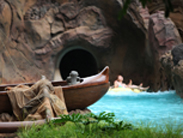 Menehune Spotted in a Canoe at Aulani, a Disney Resort &#038; Spa