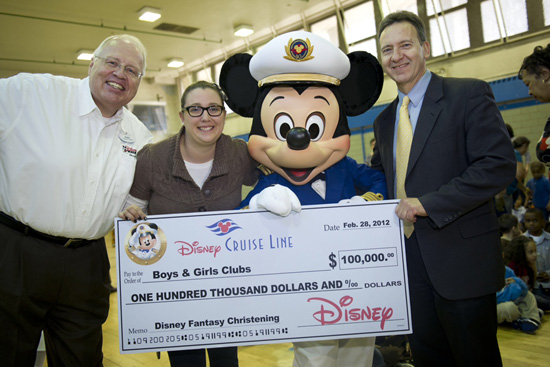 Disney Cruise Line Contributes $100,000 to the Boys & Girls Clubs of New York
