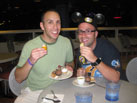 Disney Parks Blog Author Nate Rasmussen Shares a Tasty Treat with a Friend