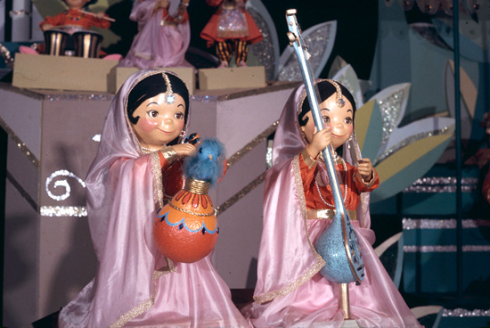 Dolls on the 'its a small world' Attraction at Disneyland Park Designed by Disney Legends Alice Davis and Mary Blair