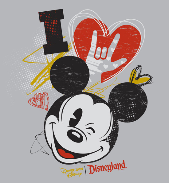 American Sign Language (ASL) I Love Mickey Tee Shirt Coming to the Downtown Disney District