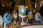 Easter Eggs on Display at Disneys Grand Floridian Resort &#038; Spa