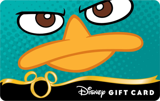 New 'Phineas & Ferb' Disney Gift Card Featuring Perry the Platypus Available Online