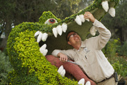Tick-Tock Shows Off His Pearly Whites at the Epcot International Flower and Garden Festival.