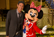 Ty Pennington with Minnie Mouse on the Disney Fantasy