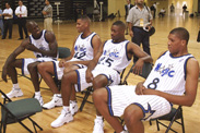 Orlando Magic Training Camp brings Coach Chuck Daly's squad to Disney's fieldhouse prior to the Magic franchise's ninth season. Penny Hardaway, Nick Anderson, and Horace Grant highlighted the Magic roster. The Magic returned to train at Disney in 2003.