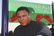 National Consortium for Academics &#038; Sports (NCAS) inducts Muhammad Ali into its Hall of Fame. Celebration at the sports complex includes special ceremony renaming Victory Way to Muhammad Ali Way for the day. Legendary sports journalist Dick Schaap serves as Master of Ceremonies.