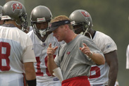 Tampa Bay Buccaneers Training Camp marks the first NFL preseason training camp in the history of Disney's Wide World of Sports. The Bucs' new era under first-year head coach Jon Gruden started at Disney and ended in January 2003 with a Super Bowl title in San Diego. The Bucs conducted joint practices on Aug. 9-10 with the Miami Dolphins (incl. Ricky Williams, Jason Taylor and Zack Thomas) in the outfield of the baseball stadium. The joint practices attracted a stadium record 12,550 fans.