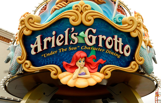 Ariel's Grotto at Disney California Adventure Park