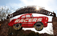 Attraction Marquee for Radiator Springs Racers in Cars Land, Opening June 15 at Disney California Adventure Park