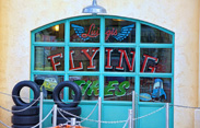 Attraction Marquee for Luigi's Flying Tires in Cars Land, Opening June 15 at Disney California Adventure Park