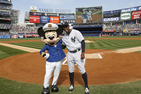 Captain Mickey Mouse Takes the Field at Yankee Stadium