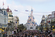 Two Thousand Disneyland Resort Paris Cast Members Perform in a Flash Mob to Celebrate the 20th Anniversary of the Resort's Opening