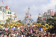Guests Enter Disneyland Paris on the 20th Anniversary of the Park's Opening