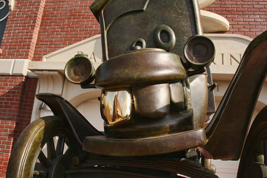Statue of Stanley in Cars Land at Disney California Adventure Park, By Paul Hiffmeyer