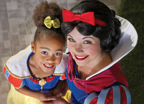 Snow White Participating in the Princess for a Day In-Room Celebration at the Walt Disney Word Resort