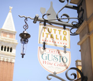 Iconic Italian Architecture Adjacent to Tutto Italia and Tutto Gusto in the Italy Pavilion at Epcot