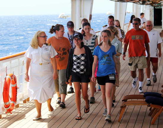 Disney Cruise Line Guests and Crew Members 'Walk for Wildlife' and Raise Money to Help Protect Chimpanzees