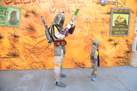 Boba Fett Signs an Autograph for a Young (and Familiar-looking) Bounty Hunter
