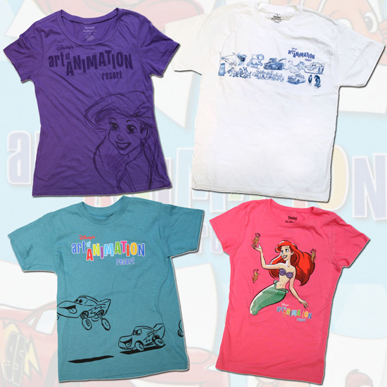 Disney's Art of Animation Resort Merchandise Featuring Shirts