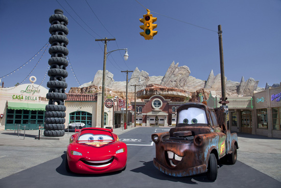 Lightning McQueen and Mater Come Home to Cars Land at Disney California Adventure Park