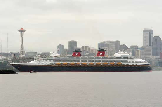 Disney Wonder Departs from Seattle on a 7-day Alaskan Voyage