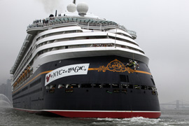 Disney Cruise Line Greets New York City with Worlds Largest Bumper Sticker