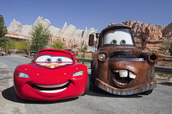 More of Lightning McQueen and Mater In Cars Land at Disney California Adventure Park