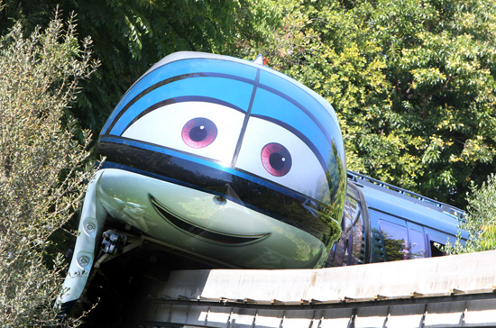 New Faces Come to the Disneyland Monorail Featuring Mandy from 'Cars'