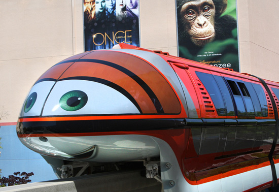 New Faces Come to the Disneyland Monorail Featuring Mona from 'Cars'