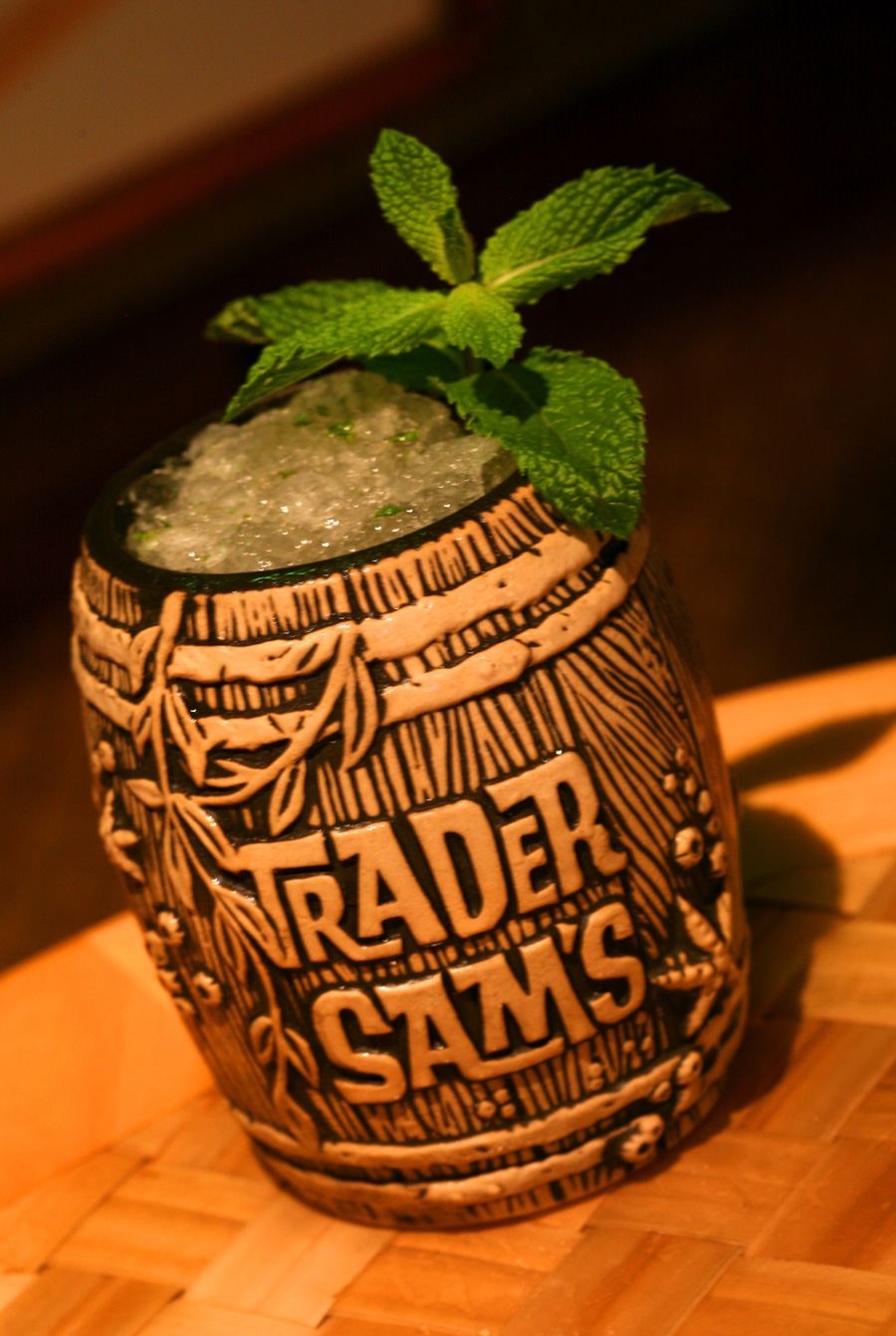 Trader Sam's Barrel Mug with Shipwreck on the Rocks, Available at the ...
