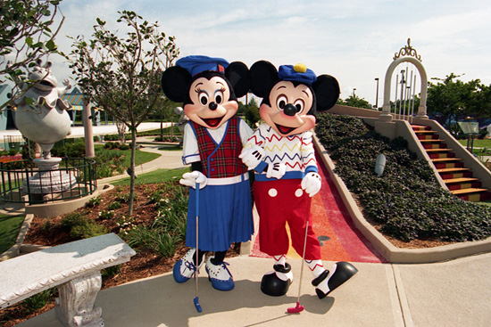 Minnie and Mickey Trying Their Luck at Fantasia Gardens and Fantasia Fairways in May 1996