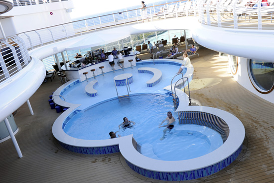 The Quiet Cove Pool on the Disney Fantasy