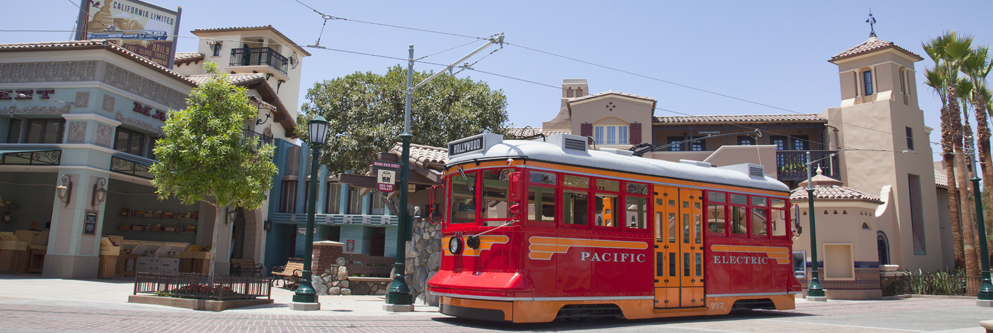 The Red Car Trolley on Buena Vista Street at Disney California Adventure Park