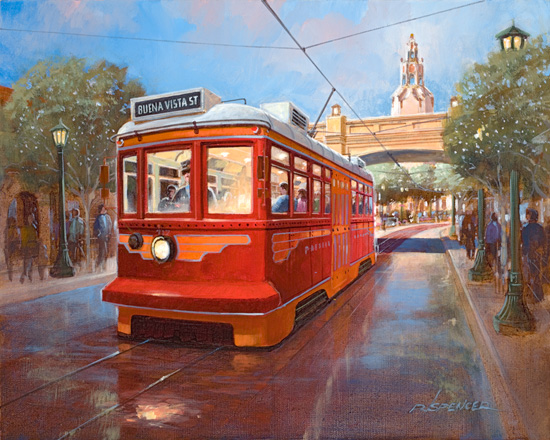 'Red Car Trolley' from Imagineer and Creative Director of Buena Vista Street, Ray Spencer