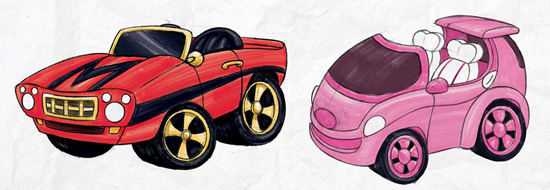 Sketches for the 'Car Show at Disneyland' Pin Collection