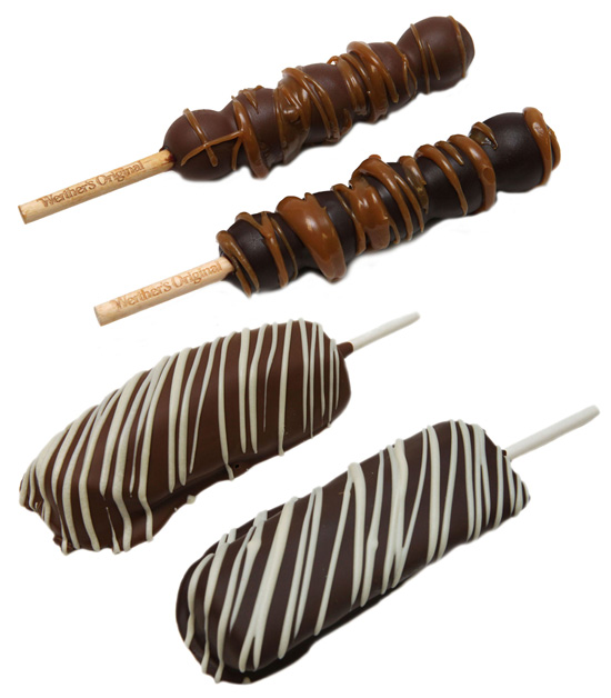 Chocolate-covered Grapes and Pineapple Spears Available at Karamell-Küche in Germany Pavilion at Epcot at Walt Disney World Resort