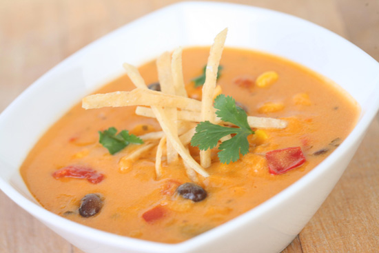 Cheesy Enchilada Soup from the Fiddler, Fifer & Practical Café at Disney California Adventure Park