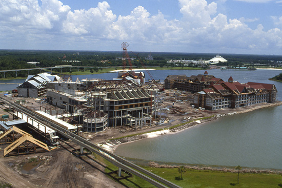 Construction on Disneys Grand Floridian Resort &#038; Spa at Walt Disney World Resort