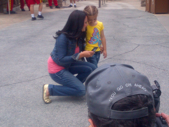 Disneyland Resort Mom Amanda Ficili and her Daughter Bella Visit Cars Land at Disney California Adventure Park
