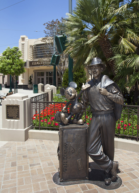 'Storytellers' Statue Welcomes Dreamers to Buena Vista Street at Disney California Adventure Park